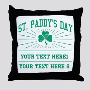 St Paddy's day [editable] Throw Pillow